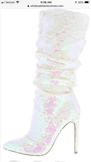 No name Pink and white sequins Boots Image 2