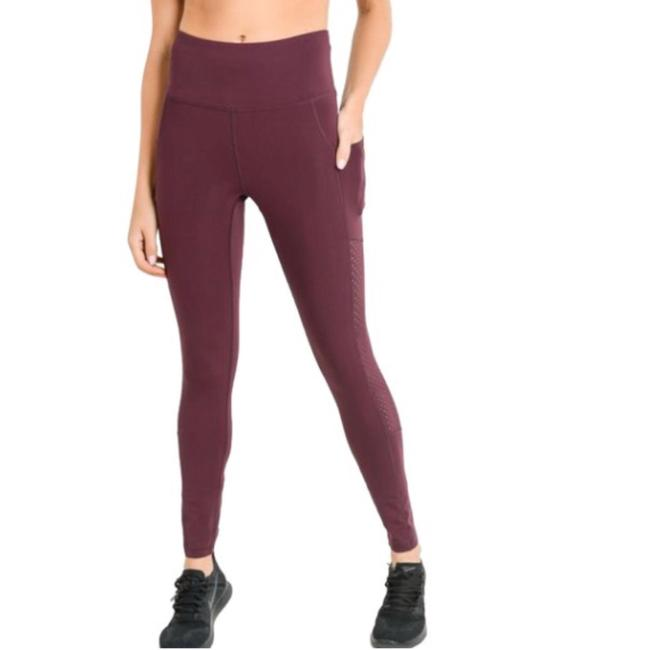 Mono B M Mono B Plum Yoga Leggings Squat Proof High Waist Yoga Pants DJ6118 Image 5