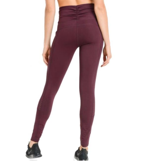 Mono B M Mono B Plum Yoga Leggings Squat Proof High Waist Yoga Pants DJ6118 Image 6