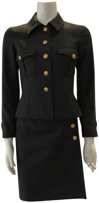 Item - Army Green Military Style Skirt Suit Size 6 (S)