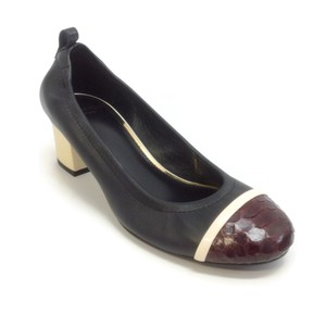 Lanvin Black / Burgundy Pumps