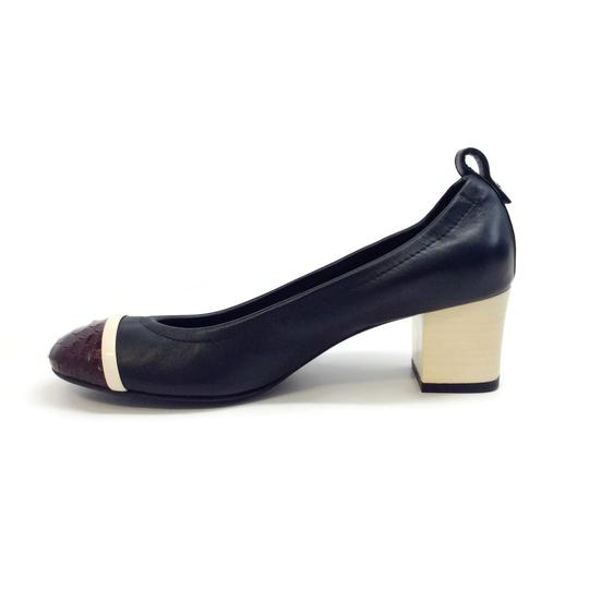 Lanvin Black / Burgundy Pumps Image 2