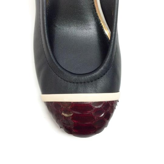 Lanvin Black / Burgundy Pumps Image 4