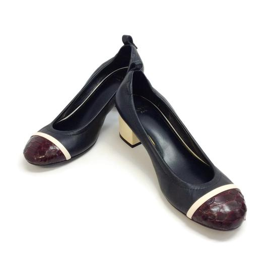 Lanvin Black / Burgundy Pumps Image 5