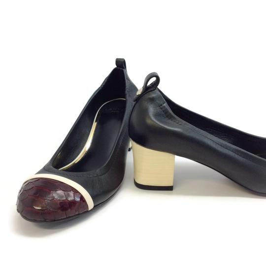 Lanvin Black / Burgundy Pumps Image 6