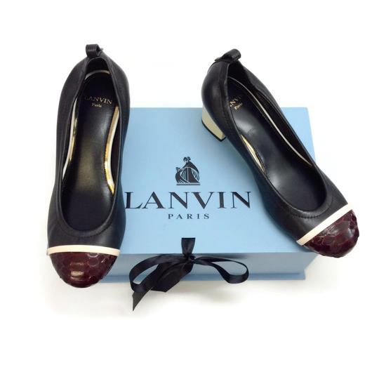 Lanvin Black / Burgundy Pumps Image 7