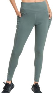 Mono B S Mono B Moto Yoga Leggings with Pockets Green High Waist Pants DJ6109