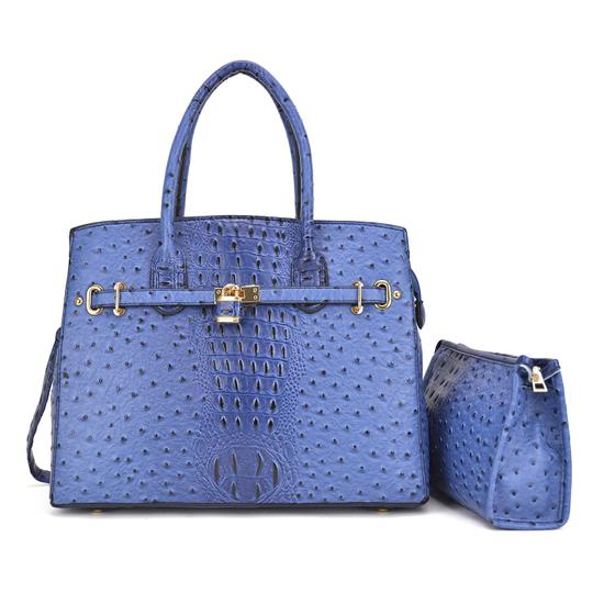 Preload https://img-static.tradesy.com/item/24223399/with-padlock-deco-and-matching-blue-ostrich-embossed-faux-leather-satchel-0-0-540-540.jpg