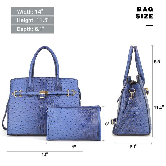 Other Designer Inspired The Treasured Hippie Affordable Bags Large Handbags Vintage Satchel in Blue Image 2