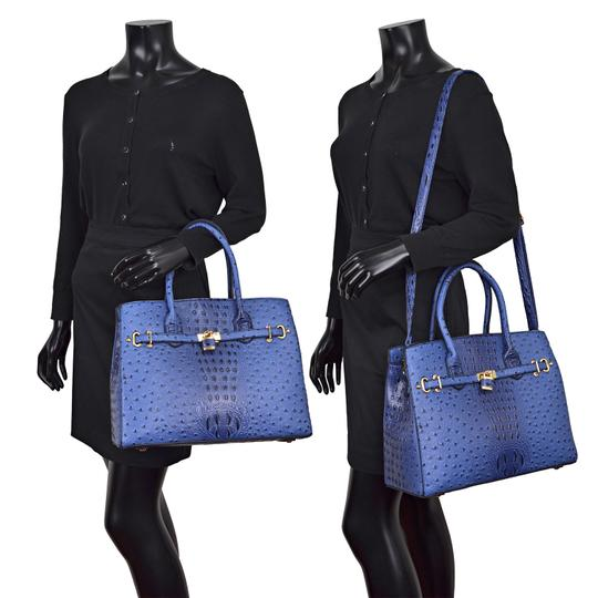 Other Designer Inspired The Treasured Hippie Affordable Bags Large Handbags Vintage Satchel in Blue Image 3