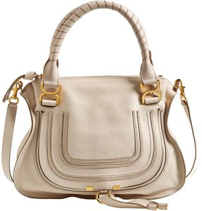 Chloé Medium Marcie Marcie Classic Fashion Satchel in abstract white