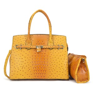 Other Designer Inspired The Treasured Hippie Affordable Bags Large Handbags Vintage Satchel in Yellow