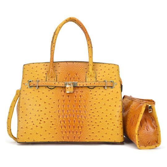 Preload https://img-static.tradesy.com/item/24223404/with-padlock-deco-and-matching-yellow-ostrich-embossed-faux-leather-satchel-0-0-540-540.jpg