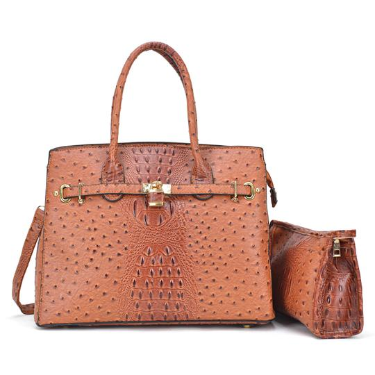 Preload https://img-static.tradesy.com/item/24223420/with-padlock-deco-and-matching-brown-ostrich-embossed-faux-leather-satchel-0-0-540-540.jpg