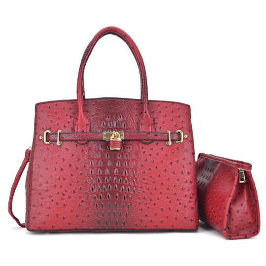 Preload https://img-static.tradesy.com/item/24223428/with-padlock-deco-and-matching-red-ostrich-embossed-faux-leather-satchel-0-0-540-540.jpg