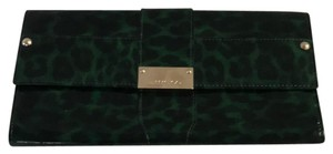 Jimmy Choo Green and Black Clutch