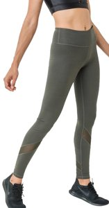 Mono B S Mono B Olive Yoga Leggings Mesh Panels High Waist Activewear DJ1324