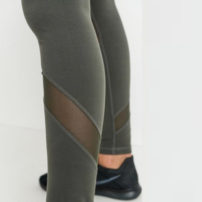 Mono B L Mono B Olive Yoga Leggings Mesh Panels High Waist Activewear DJ1324 Image 6