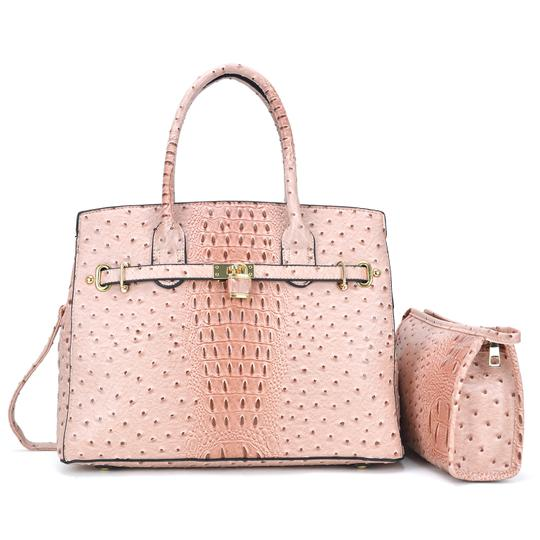 Preload https://img-static.tradesy.com/item/24223464/with-padlock-deco-and-matching-blush-ostrich-embossed-faux-leather-satchel-0-0-540-540.jpg