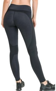 Mono B S Mono B Gray Black Yoga Pants Brushed High Waist Wrap Around DJ2085
