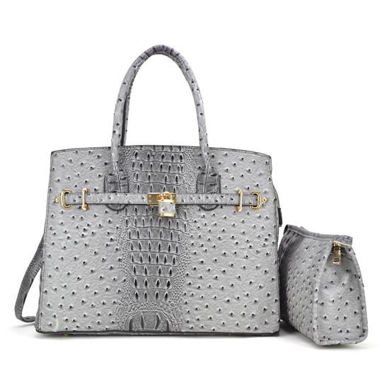 Preload https://img-static.tradesy.com/item/24223478/with-padlock-deco-and-matching-gray-ostrich-embossed-faux-leather-satchel-0-0-540-540.jpg