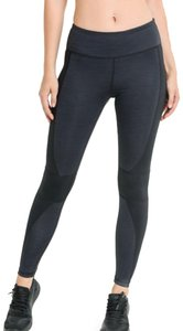 Mono B M Mono B Gray Black Yoga Pants Brushed High Waist Wrap Around DJ2085