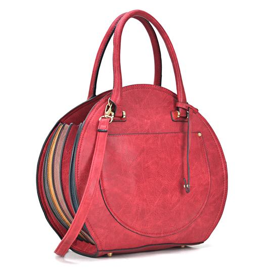 Preload https://img-static.tradesy.com/item/24223583/oval-shaped-red-faux-leather-satchel-0-0-540-540.jpg