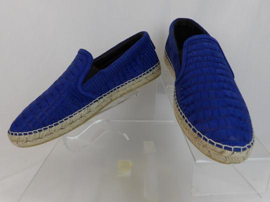 Jimmy Choo Blue Vlad Leather Croc Print Logo Espadrille 44.5 11.5 Spain Shoes Image 6