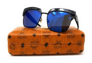 MCM MCM Sunglasses MCM102S 005 Matte Black-Blue Lens Sunglasses