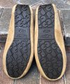 UGG Australia Leather Shearling Rubber Embossed Sole Mocs Tan Flats Image 11