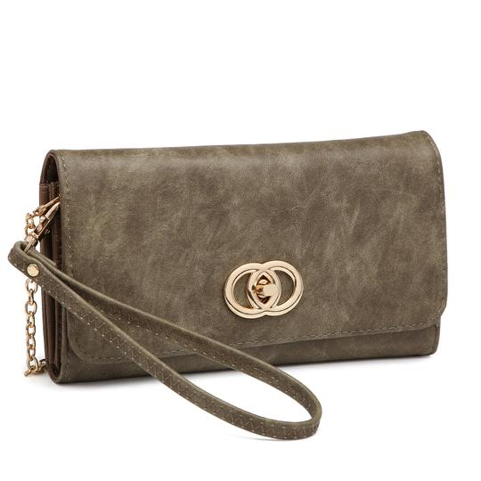 Preload https://img-static.tradesy.com/item/24223751/wallet-clutchwristlet-with-twist-lock-closure-army-green-faux-leather-wristlet-0-0-540-540.jpg