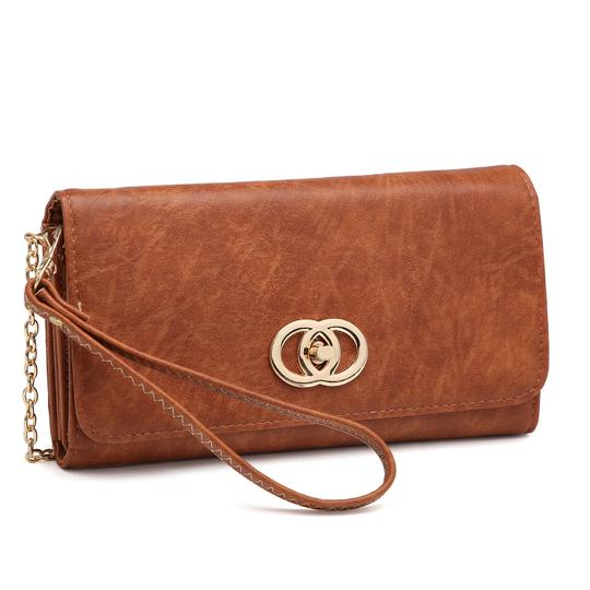 Preload https://img-static.tradesy.com/item/24223755/wallet-clutchwristlet-with-twist-lock-closure-brown-faux-leather-wristlet-0-0-540-540.jpg