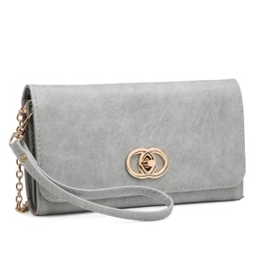 Other The Treasured Hippie Designer Inspired Vintage Affordable Wallets Classic Wristlet in Gray