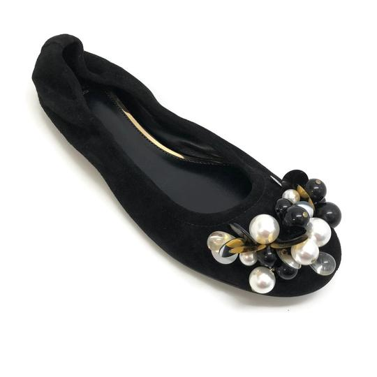 Preload https://img-static.tradesy.com/item/24223807/lanvin-black-pearl-embellished-flats-size-eu-36-approx-us-6-regular-m-b-0-1-540-540.jpg