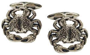 Stephen Webster NEVER WORN!! Stephen Webster Silver Cancer Cufflinks Sterling Silver 22.3 grams 100% Authentic Guaranteed!! Comes with Original Stephen Webster Pouch!!!