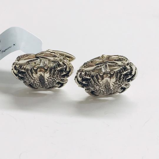 Stephen Webster NEVER WORN!! Stephen Webster Silver Cancer Cufflinks Sterling Silver 22.3 grams 100% Authentic Guaranteed!! Comes with Original Stephen Webster Pouch!!! Image 1