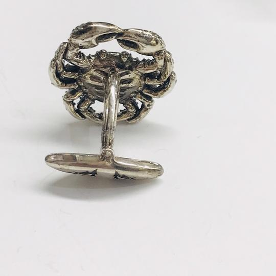 Stephen Webster NEVER WORN!! Stephen Webster Silver Cancer Cufflinks Sterling Silver 22.3 grams 100% Authentic Guaranteed!! Comes with Original Stephen Webster Pouch!!! Image 2