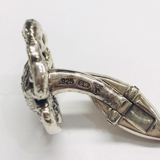 Stephen Webster NEVER WORN!! Stephen Webster Silver Cancer Cufflinks Sterling Silver 22.3 grams 100% Authentic Guaranteed!! Comes with Original Stephen Webster Pouch!!! Image 3
