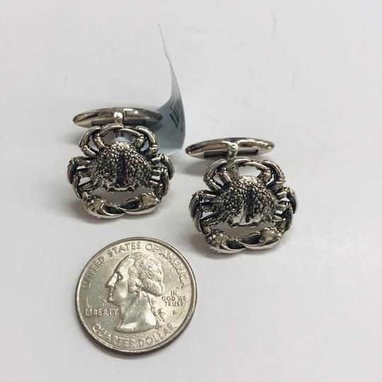 Stephen Webster NEVER WORN!! Stephen Webster Silver Cancer Cufflinks Sterling Silver 22.3 grams 100% Authentic Guaranteed!! Comes with Original Stephen Webster Pouch!!! Image 5