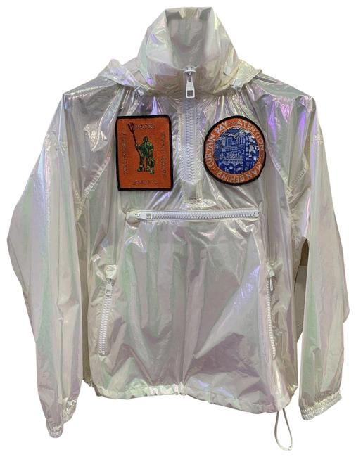 Louis Vuitton Runway Transparent Windbreaker Patches Iridescent Jacket Image 0
