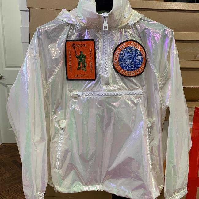 Louis Vuitton Runway Transparent Windbreaker Patches Iridescent Jacket Image 2