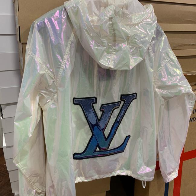 Louis Vuitton Runway Transparent Windbreaker Patches Iridescent Jacket Image 7