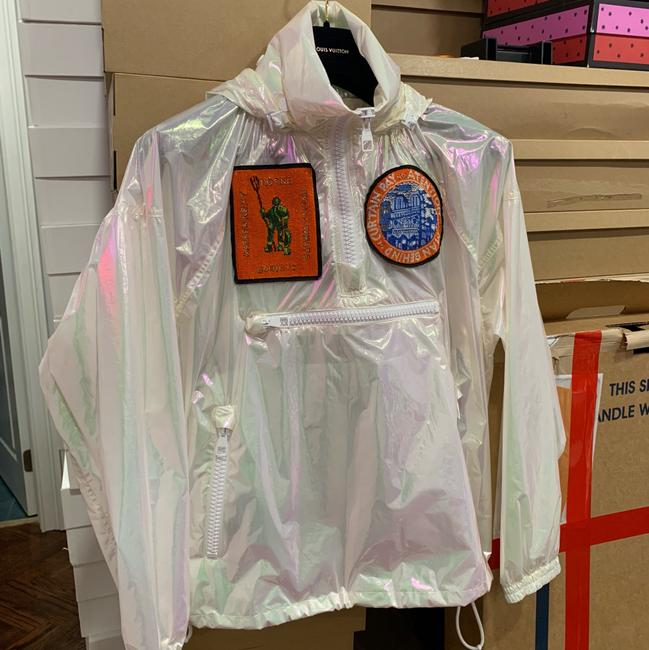 Louis Vuitton Runway Transparent Windbreaker Patches Iridescent Jacket Image 9