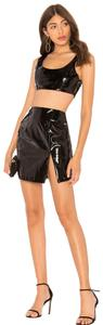 By The Way JORDY FAUX LEATHER CROP IN BLACK PATENT LEATHER