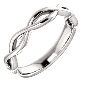 Apples of Gold WOMEN'S INFINITY KNOT WEDDING BAND RING