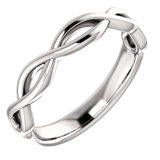Apples of Gold WOMEN'S INFINITY KNOT WEDDING BAND RING Image 1
