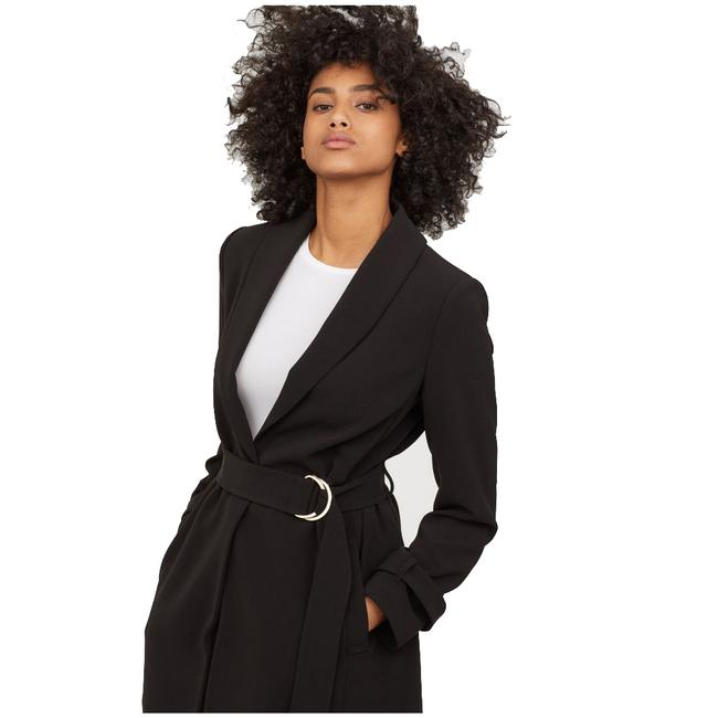 H&M Belted Long Trench Coat Image 2