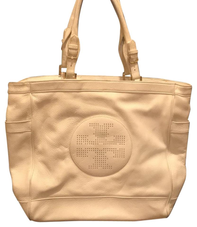 931f5c6d2db4 Tory Burch Large Shoulder White Pebbled Leather Tote - Tradesy