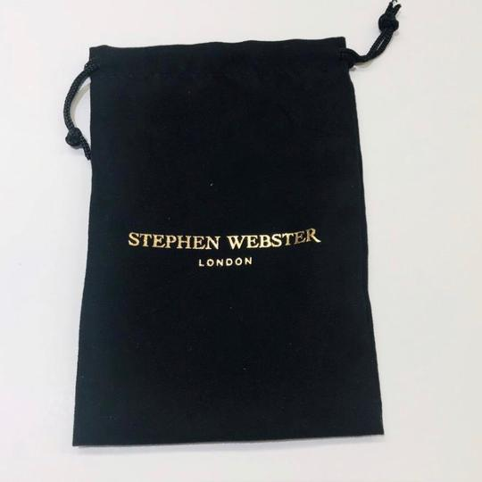 Stephen Webster NEVER WORN!! Stephen Webster Highwayman Silver/WR Blue Tiber's Eye Shield Cufflinks Sterling Silver 14.7 grams 100% Authentic Guaranteed! Comes with Original Stephen Webster Pouch!! Image 5