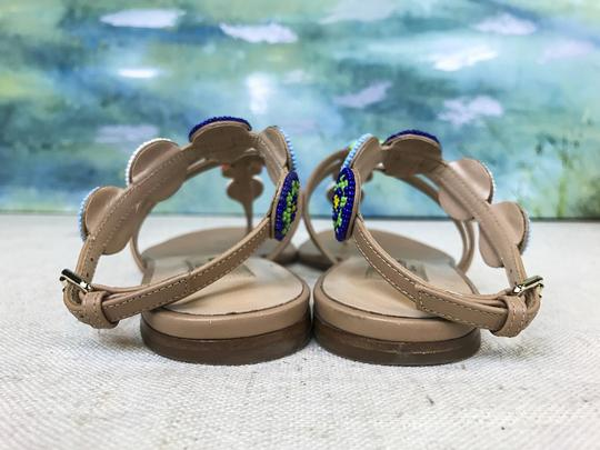 Valentino Leather Beaded Beige Sandals Image 7